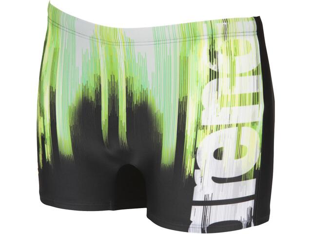arena Drawing Shorts Hombre, negro/verde